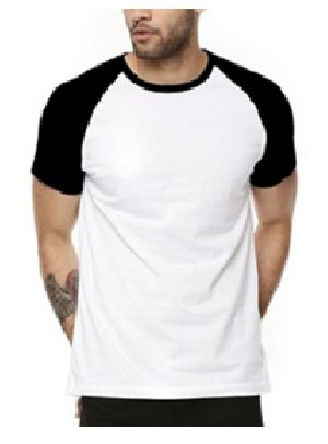 Mens Raglan Half Sleeve Round Neck T-Shirts