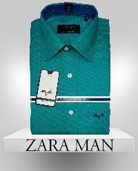 Mens Green Color Casual Shirt
