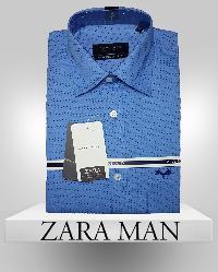 Mens Blue Color Casual Shirt