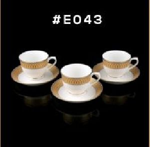 Gold Chain Gold Line Series Cup & Saucer Set 03
