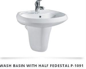 Half Pedestal Wash Basin 02