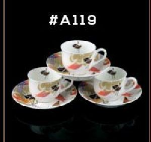 Microwave Series Cup & Saucer Set 12