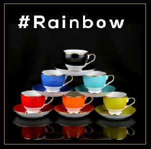 Rainbow Series Cup & Saucer Set