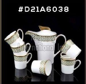 Gold Chain Gold Line Series Tea & Coffee Set