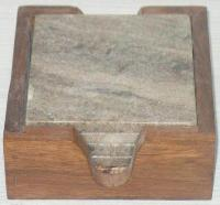 NS0015 Marble Wood Coasters Set