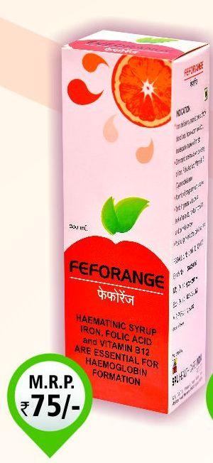 200ml Feforange Syrup