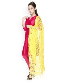 Brush Print Silk Dupatta 03