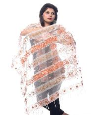 Brush Print Silk Dupatta 05