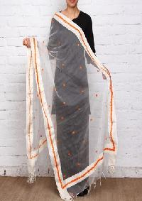 Brush Print Silk Dupatta 06