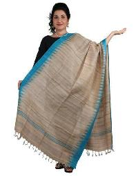 Brush Print Silk Dupatta 12