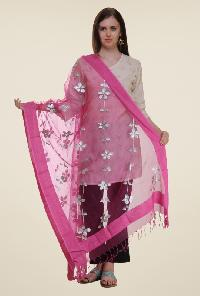 Embroidered polyester dupatta 03