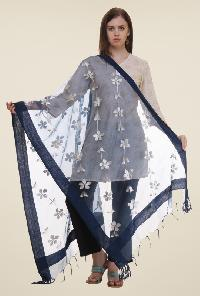 Embroidered polyester dupatta 04