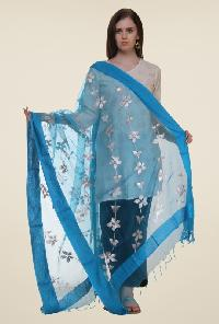 Embroidered polyester dupatta 05