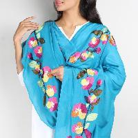 Floral Silk Dupatta 08
