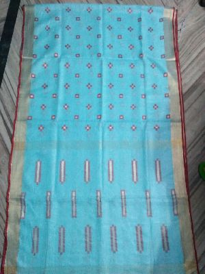 Jamdani Linen Saree 06
