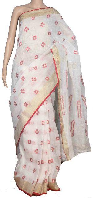 Jamdani Linen Saree 08