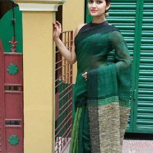 Linen Khadi Cotton Saree 01