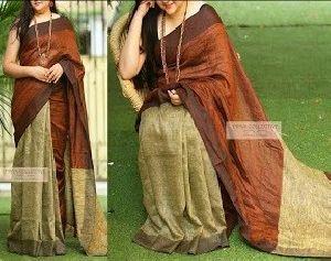 Linen Khadi Cotton Saree 04