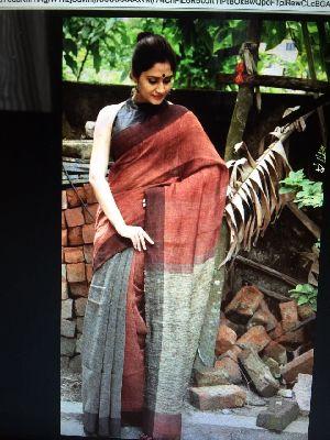 Linen Khadi Cotton Saree 05