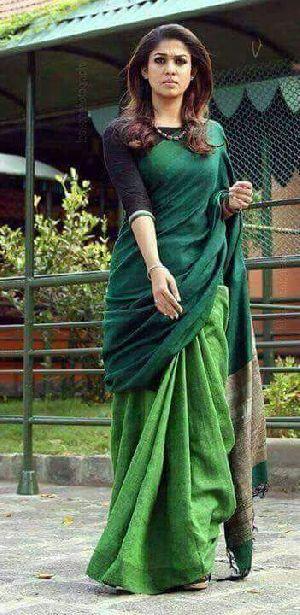 Linen Khadi Cotton Saree 07