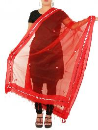 Mirror Work Silk Dupatta 04