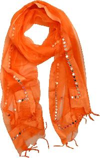 Mirror Work Silk Dupatta 09