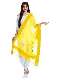 Mirror Work Silk Dupatta 11