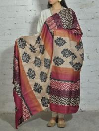 Printed Silk Dupatta 01
