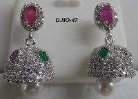 CZ Jhumka Earring 47