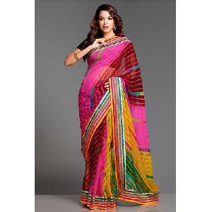 Multicolor Chiffon Sarees