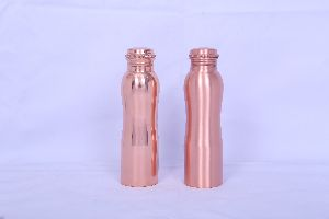 950 ml Copper Curved Water Bottles