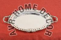 AVR-3001 Silver Oval Tray