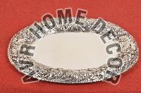 AVR-3010 Silver Oval Tray