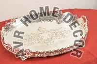 AVR-3014 Silver Oval Tray