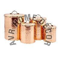 Copper Hammered Canister Set