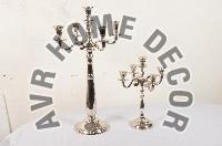 Silver Pillar Candle Stands