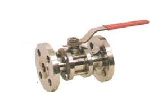 SS Three Piece Flanged End Ball Valve