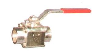 SS Three Piece Screwed End Ball Valve