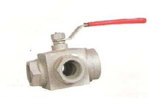 Three Way Flanged End Ball Valve