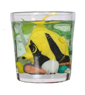 Mini Aquarium Gel Wax Candle