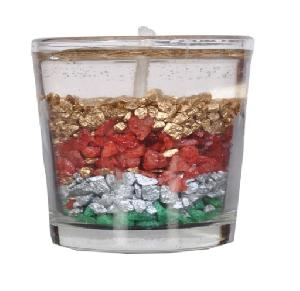 Sparkling Stone Gel Wax Candle
