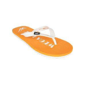 Orange & White Mens Slipper
