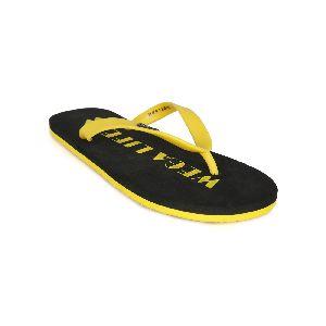 Black & Yellow Mens Slipper