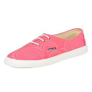 Plain Pink Ladies Sneaker