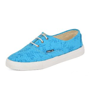 Plain Sky Blue Ladies Sneaker