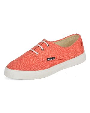 Plain Orange Ladies Sneaker