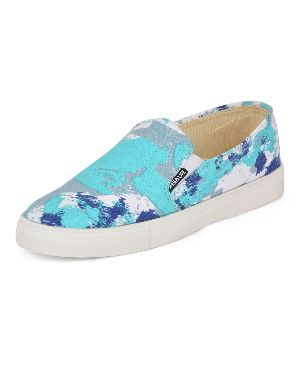 Printed Sky Blue Ladies Sneaker