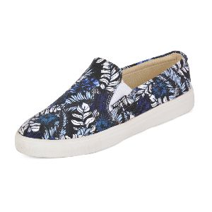 Printed Black Ladies Sneaker
