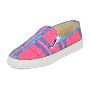 Striped Pink Ladies Sneaker