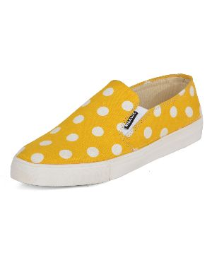 Dotted Yellow Ladies Sneaker